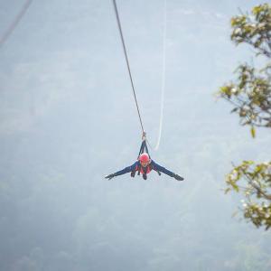 Superman zipline at Dhulikhel